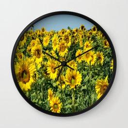 Field of Sunflowers-2 Wall Clock