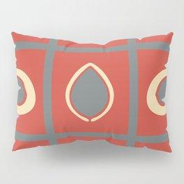 Fire Orange and Gray Tic Tac Toe Pillow Sham