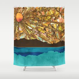Fractured Sky Shower Curtain