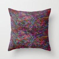 trip Throw Pillows featuring Trip by NaturePrincess