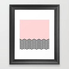 Warm Wave; Framed Art Print