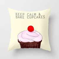 keep calm Throw Pillows featuring keep calm by techjulie