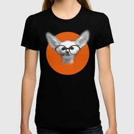 Fennec Fox wearing glasses T-shirt