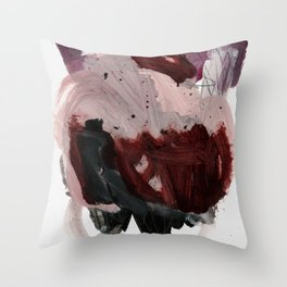 gestural brushstrokes 03 Throw Pillow