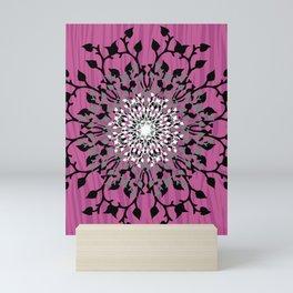 Pink Iris Vines Mini Art Print