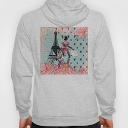 Fashion girl in Paris - Shopping at the EiffelTower Hoodie