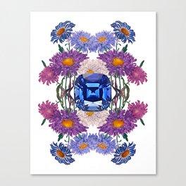 Birth Stone & Flower/SEPTEMBER Canvas Print