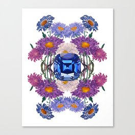 Birth Stone & Flower/SEPTEMBER Canvas Print