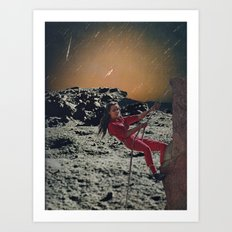landing on the moon Art Print
