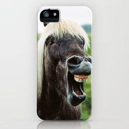 Iceland - Cheer up horse (Leica M3 & Kodak film) iPhone Case