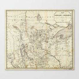 Territory of Minnesota Map (1849) Canvas Print