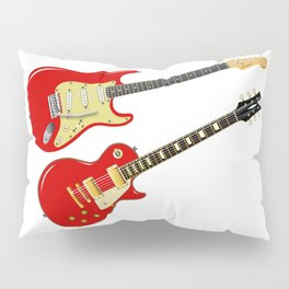 Red Elecric Guitars Pillow Sham