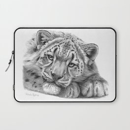 Snow Leopard Cub G105 Laptop Sleeve