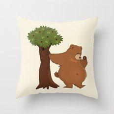 Bear and Madrono Throw Pillow