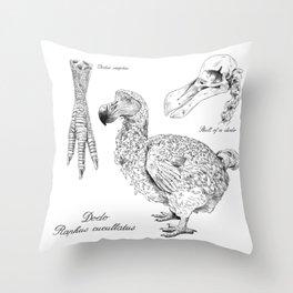 The last Dodo - scientific illustration Throw Pillow