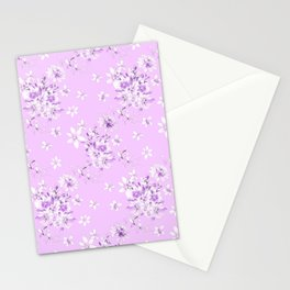 Flowers on a lilac kolor 2 Stationery Cards