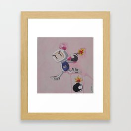 """Three Stripes"" Bomberman Framed Art Print"