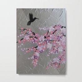 Pink sakura - Japanese cherry blossom Metal Print
