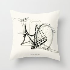 Please Come Back Throw Pillow