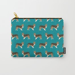 Sheltie shetland sheep dog pattern gift perfect for the sheep dog owner dog breed patterns Carry-All Pouch