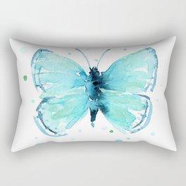 Blue Abstract Butterfly Rectangular Pillow