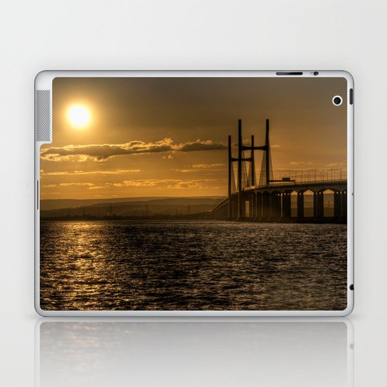 Severn Bridge Sunset  Laptop & iPad Skin