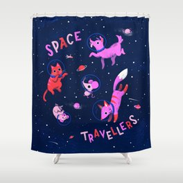 Space Travellers Shower Curtain