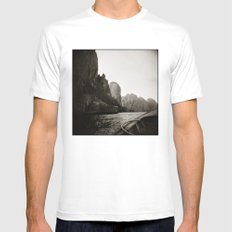 { Adventures } Mens Fitted Tee MEDIUM White