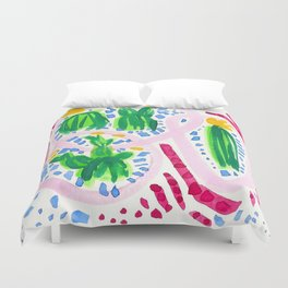 Flirty Girls Duvet Cover