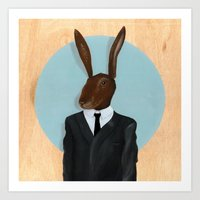 lynch Art Prints featuring David Lynch | Rabbit by FAMOUS WHEN DEAD