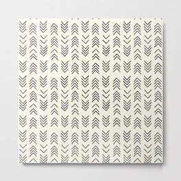 Mud cloth | Black and White African Print Metal Print