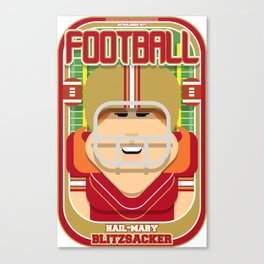 American Football Red and Gold - Hail-Mary Blitzsacker - Jacqui version Canvas Print