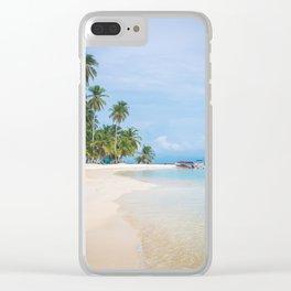 The San Blas Islands in Panama. Isla Iguana Clear iPhone Case