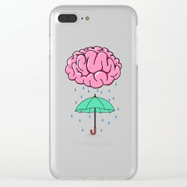 Problem Solving or Brainstorming Tshirt Design Brainstorm umbrella Clear iPhone Case