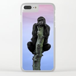 Lope The Gorilla At Sunset Clear iPhone Case