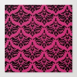 Vintage Damask Brocade Pink Yarrow Canvas Print