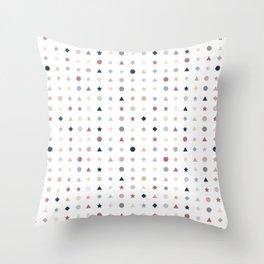 Simple Scandi Shape Pattern Throw Pillow