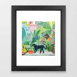 Jungle Panther Framed Art Print