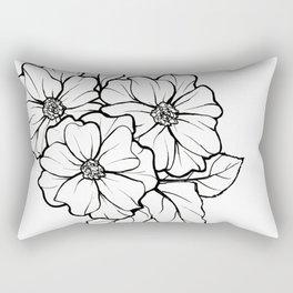 Line Flower #3 Rectangular Pillow