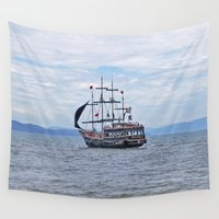 pirate Wall Tapestries featuring Pirate by Caio Trindade