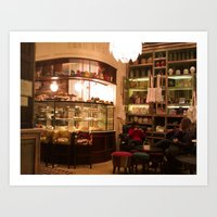 Cafe Pani 5 , Recoleta, Buenos Aires Art Print
