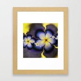 Petite Fleur Jaune Fractal Framed Art Print