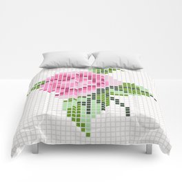 Shabby Chic Pink Rose Comforters