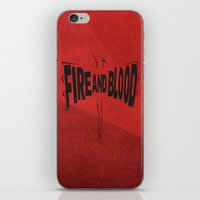 targaryen iPhone & iPod Skins featuring House Targaryen - Fire and Blood by Jack Howse