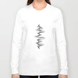 Abstract 80s Soundwave Art Music Audio black and white Musical design home wall bedroom decor Art Pr Long Sleeve T-shirt
