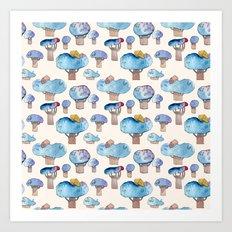 thousands of little blue trees Art Print