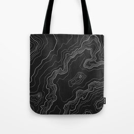 Black & White Topography map Tote Bag