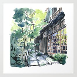 Shaded Alley Art Print