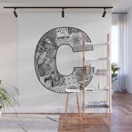 Cutout Letter C Wall Mural
