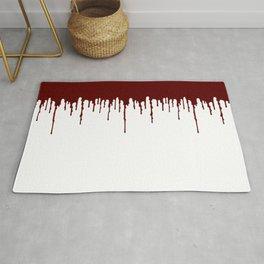 Red Drip White Rug